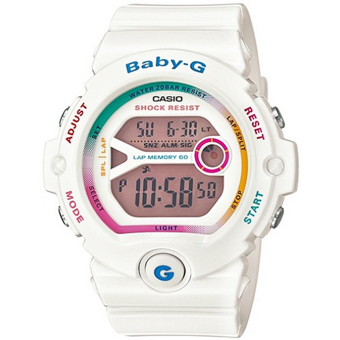 Baby-G 仲夏輕慢跑女錶-白 BG-6903-7C