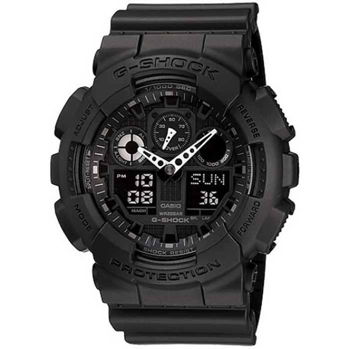 G-SHOCK 重型機械感酷炫黑男錶_GA-100-1A1
