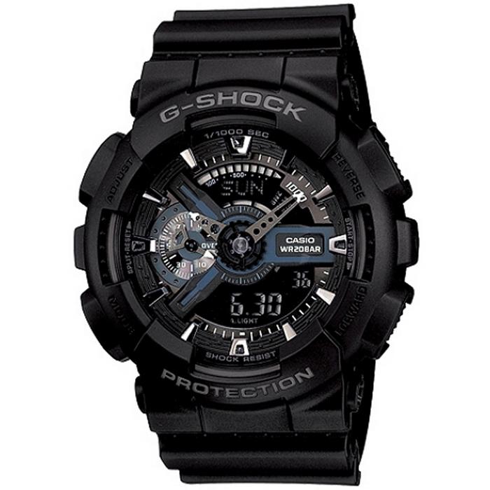 G-SHOCK 簡潔低調男錶-黑_GA-110-1B