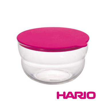 【HARIO】NUBA桃紅保鮮莎拉缽350ml / CWP-350-PC
