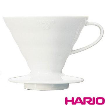 【HARIO】V60白色02磁石濾杯1~4杯 / VDC-02W