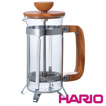 【HARIO】橄欖木濾壓咖啡壺300ml CPSW-2-OV