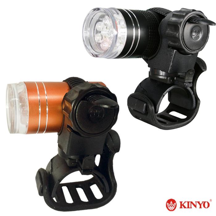 【KINYO】炫彩自行車用鋁合金警示燈 2入(BLED-7105B)