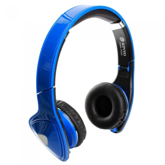 【KINYO】頭戴式可折疊手機專用耳機麥克風-雙色任選(IPEM-7000)