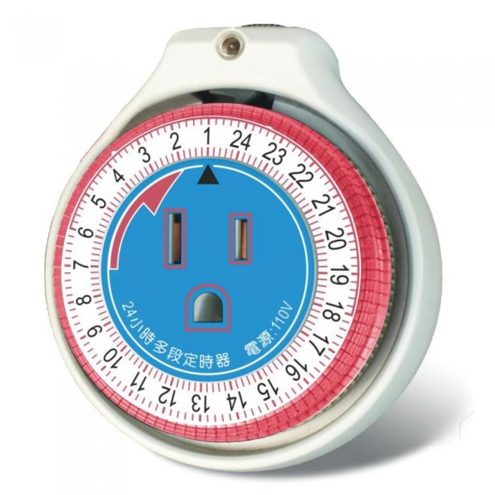 【Dr.AV】24小時機械式省電定時器(JR-1126)2入