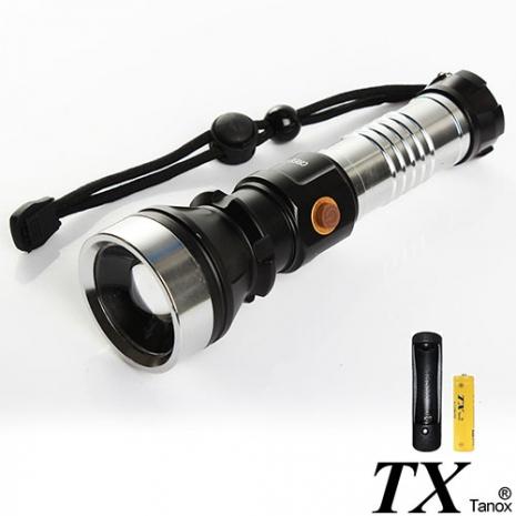 【特林TX】美國CREE T6 LED 伸縮變焦銀?手電筒(T6-F31-1B)-戶外.婦幼.食品保健-myfone購物