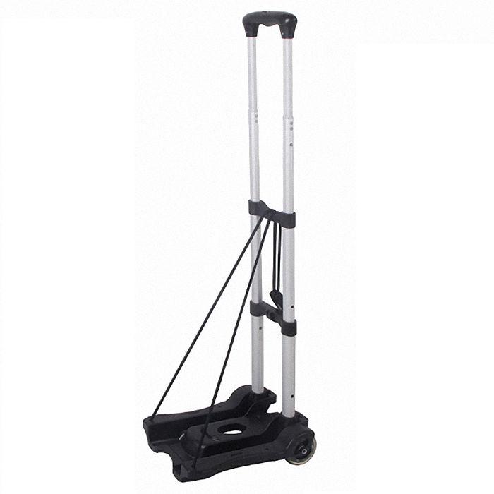 輕巧折疊式多功能拉桿行李推車/折疊購物車-黑(NP0006)