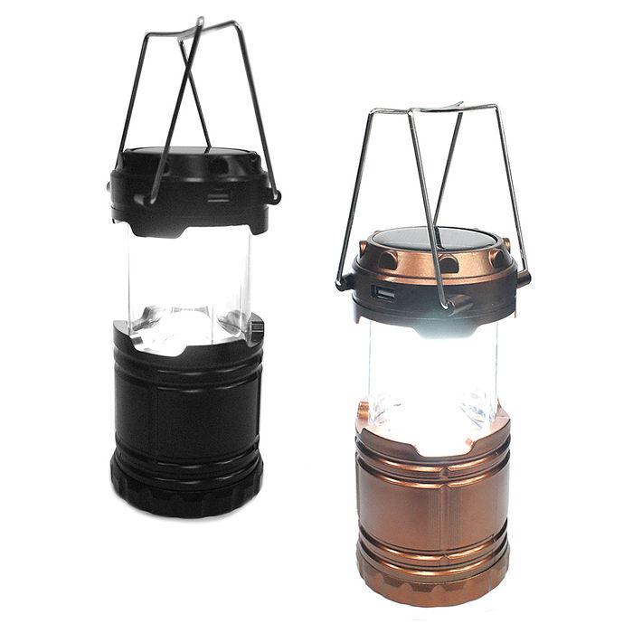 【TM】6LED多功能太陽能露營燈(T-0815)