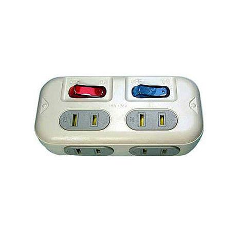高容量 分接式插座 2孔4座2開關