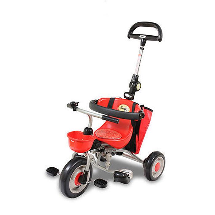 新寶寶摺疊三輪背包車第三代紅/IDES/三輪車/兒童騎乘