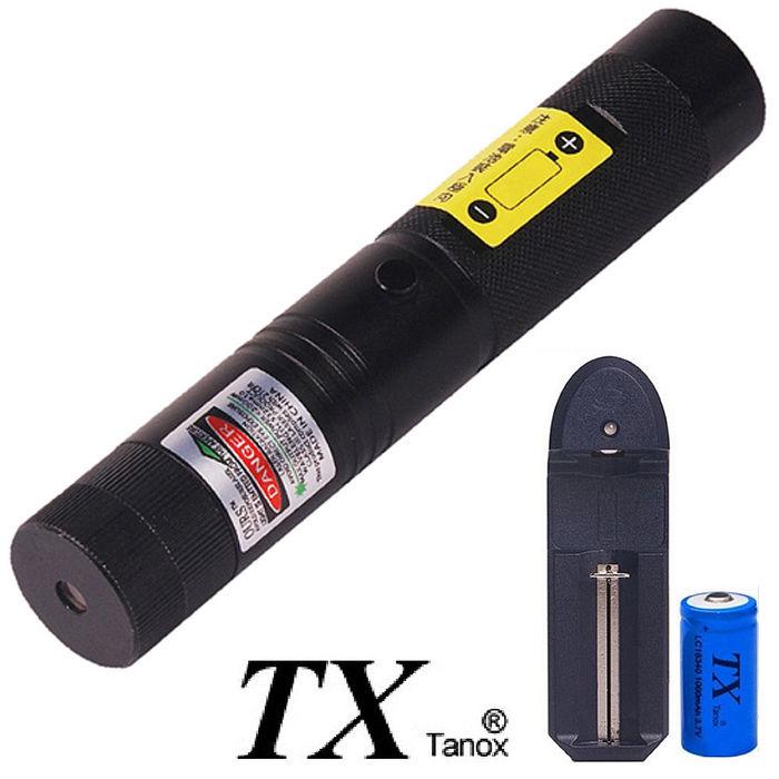 TX特林綠光雷射手電筒100mW附滿天星TX-G100-NB