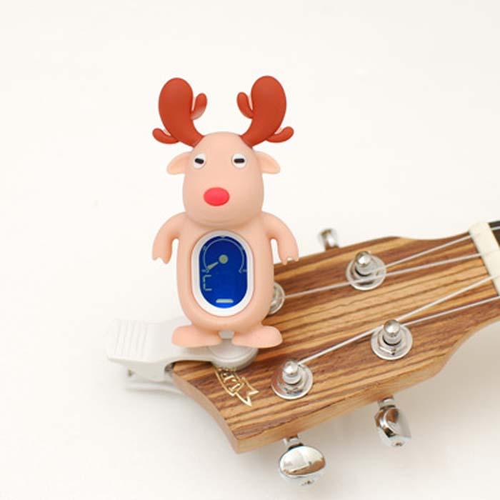 【Swiff】A-7 麋鹿造型 液晶顯示夾式調音器(A7)『吉他、烏克麗麗、貝斯、提琴適用』