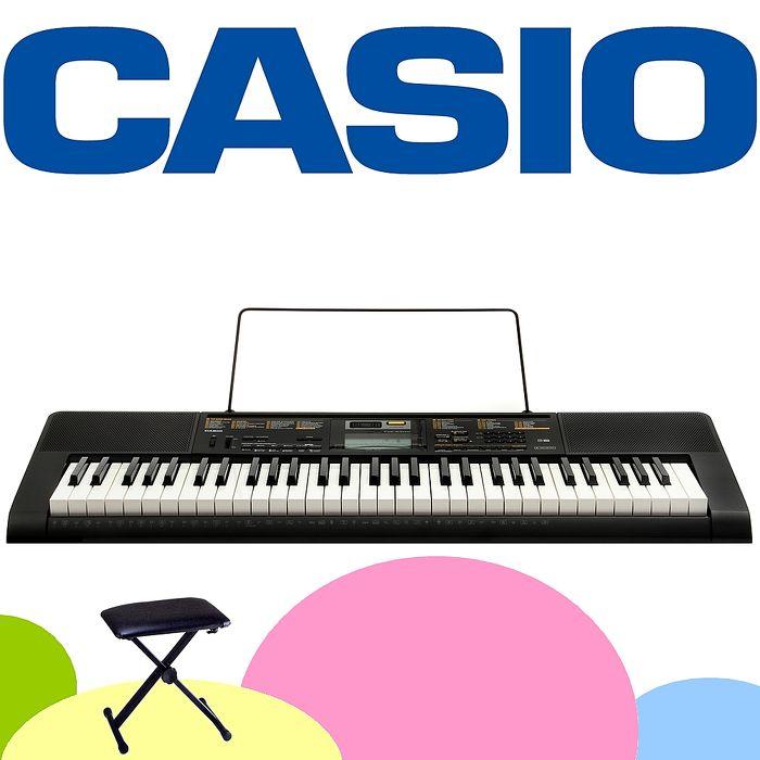 【CASIO 卡西歐】新款標準61鍵電子琴含琴架 . 琴椅 公司貨保固 (CTK-2400)