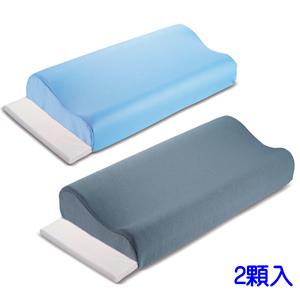2入-貴族級備長炭減壓活力安眠枕-藍灰任選灰色