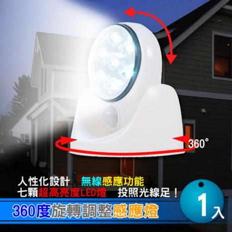 360度旋轉調整感應燈 1入
