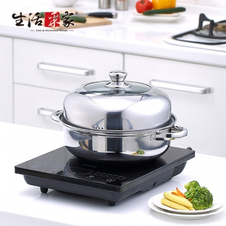 【生活采家】DEBO系列26cm簡易型蒸煮湯鍋組#17019-居家日用.傢俱寢具-myfone購物