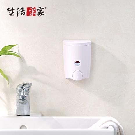 【生活采家】幸福手感時尚白580ml單孔手壓式給皂機#47017