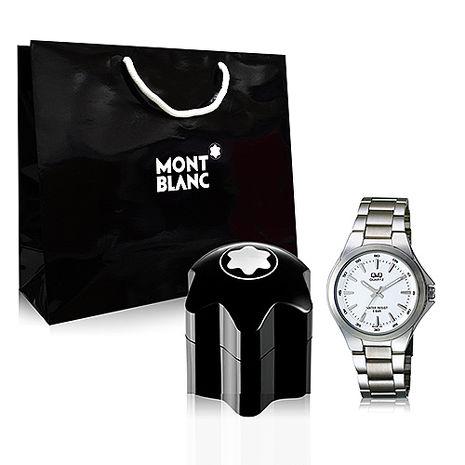 Montblanc Emblem 萬寶龍男性淡香水 40ml+Q&Q日製名錶+隨機品牌紙袋