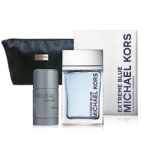 MICHAEL KORS EXTREME BLUE 卓越男香 120ml+隨機體香膏 75g+盥洗包