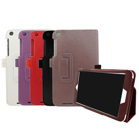 ASUS MemoPad 8 ME181C 專用 可立式荔枝紋保護套-5色 (白/紫/紅/黑/褐)