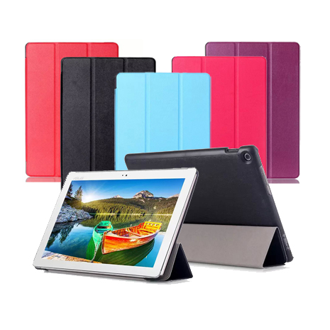 ASUS ZenPad 10 Z300C/Z300CL 10吋 專用卡斯特紋三折皮套天藍
