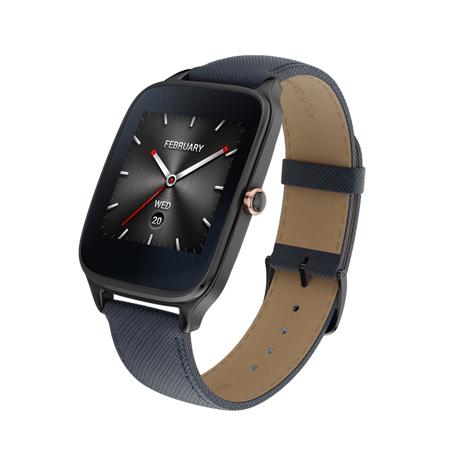 ASUS 華碩 ZenWatch 2 WI501Q(BQC) 快充進化版智慧手錶 【真皮伯爵藍/大錶】
