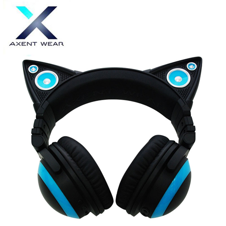 Axent Wear 貓耳耳機 Headphones (炫藍/炫紫/炫紅/炫綠)綠色