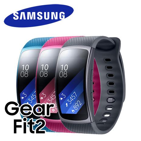 【拆封福利品A級】Samsung 三星 Gear Fit2 (SM-R360) 智慧手環桃紅