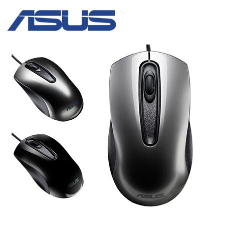 ASUS 華碩 UT200 有線滑鼠 (銀色/黑色)銀色