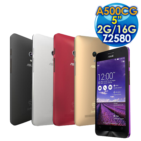 ASUS 華碩 ZenFone 5 A500CG 16GB 3G版 5吋手機/雙卡雙待 (5色)紅色
