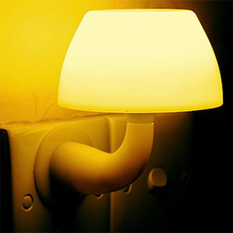 蘑菇造型LED聲控 光控 自動感應燈 小夜燈