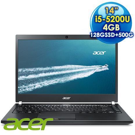 ACER 宏碁 TMP645-SG-52UT (14吋/i5-5200U/4G/128&500G/W7P&W10P) 商務筆電