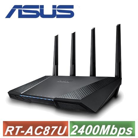 【ASUS 華碩】RT-AC87U 超值雙頻段AC2400無線路由器