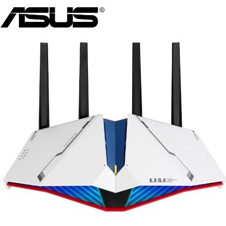 【ASUS 華碩】 RT-AX82U 雙頻WiFi 6 無線電競路由器 鋼彈限量款 GUNDAM EDITION