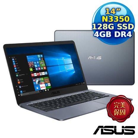 ASUS E406NA-0051BN3350 雲河灰 (Celeron N3350/4G/128G/Windows 10 Pro/HD/14)