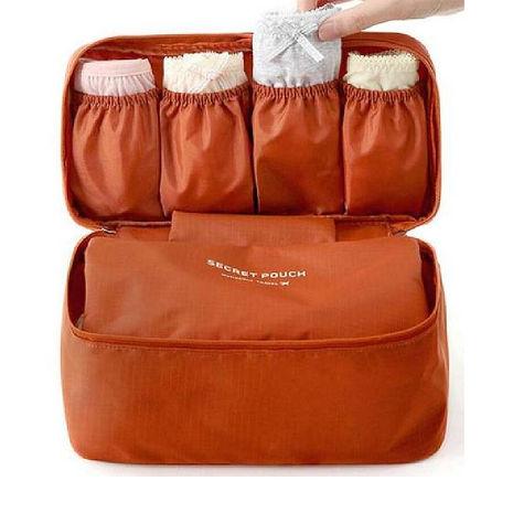 旅遊首選 旅行用品 內褲內衣便攜收納包 整理包 第二代(深橘色)