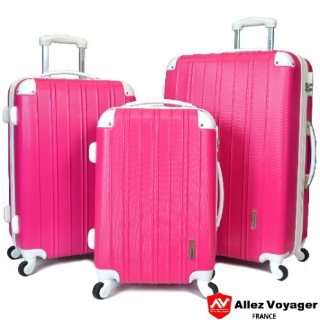 【法國 奧莉薇閣】繽紛系列-彩妝玩色風三件組輕量超值行李箱/旅行箱/登機箱(四色任選)