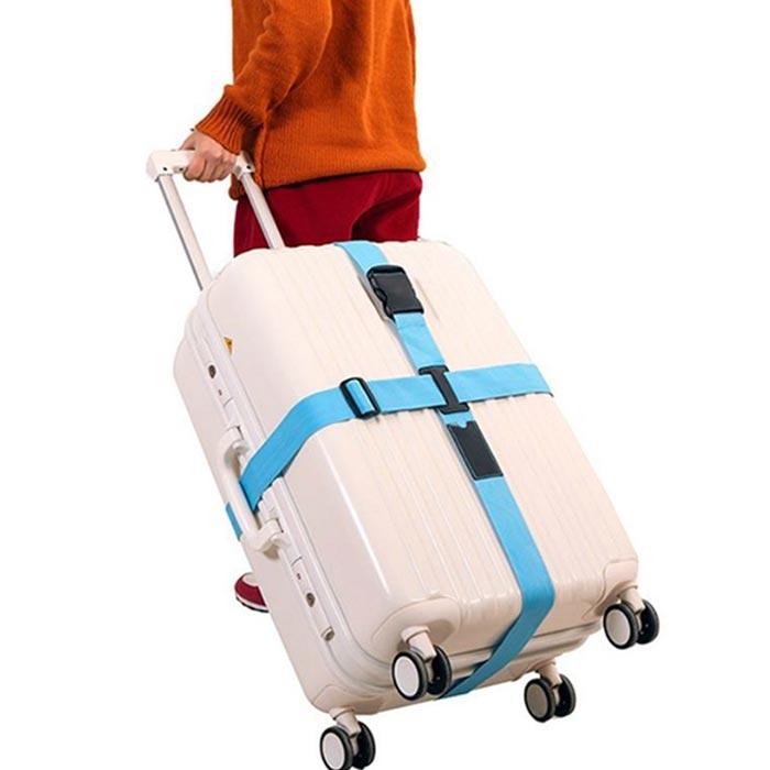 【旅遊首選,旅行用品】十字行李箱束帶打包帶綁帶保護帶綑綁帶(一入)
