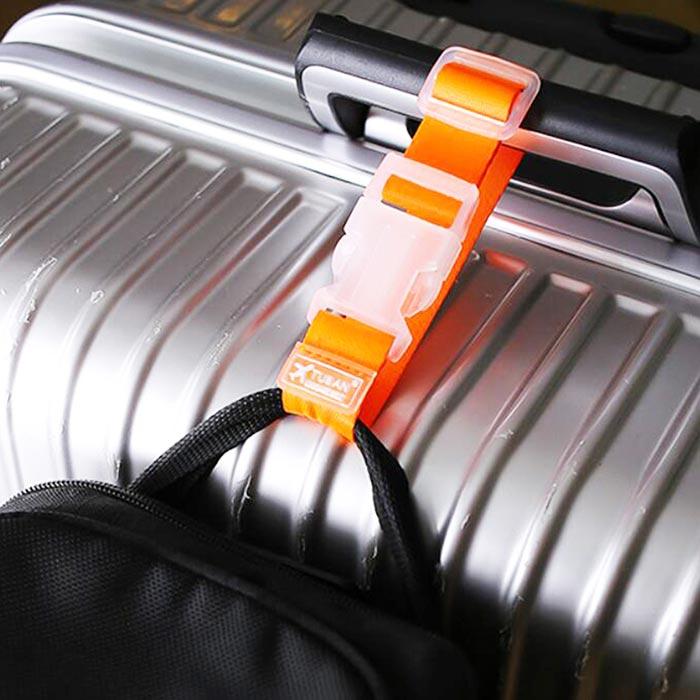 【旅遊首選,旅行用品】 繽紛實用便攜行李箱掛勾帶旅行箱束帶背包固定帶(一入)-戶外.婦幼.食品保健-myfone購物