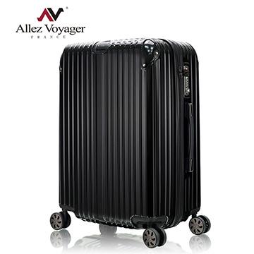 法國奧莉薇閣 28吋行李箱 PC金屬護角旅行箱 箱見恨晚(黑色)