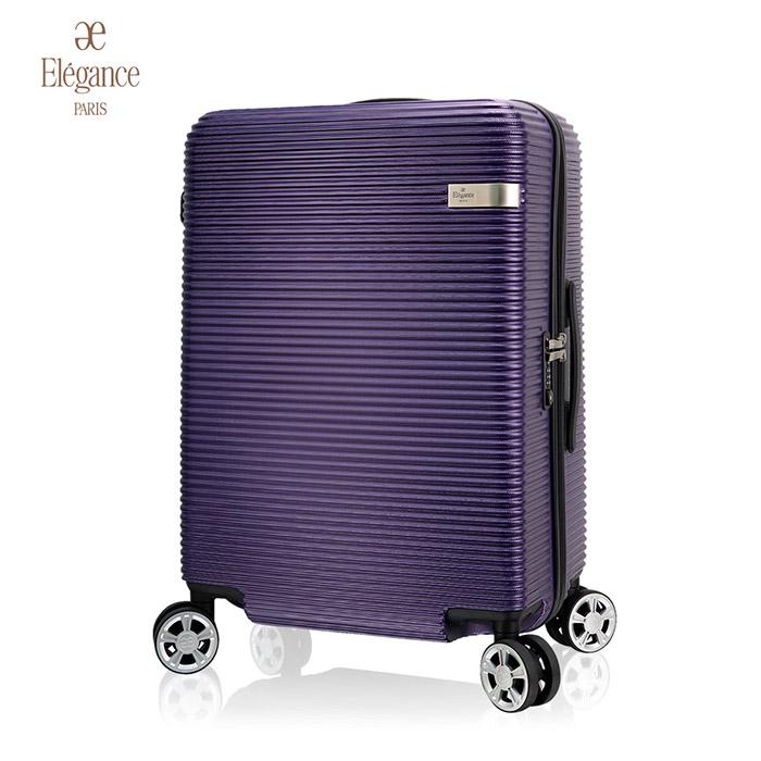 【Paris Elegance】20吋行李箱 超輕量德國拜耳PC防刮 大飛機輪 旅行箱 登機箱黑色