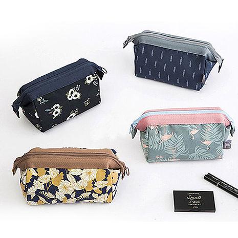 印花鐵架大容量化妝包 收納袋 旅行包 隨身包 洗漱包 旅遊首選 旅行用品