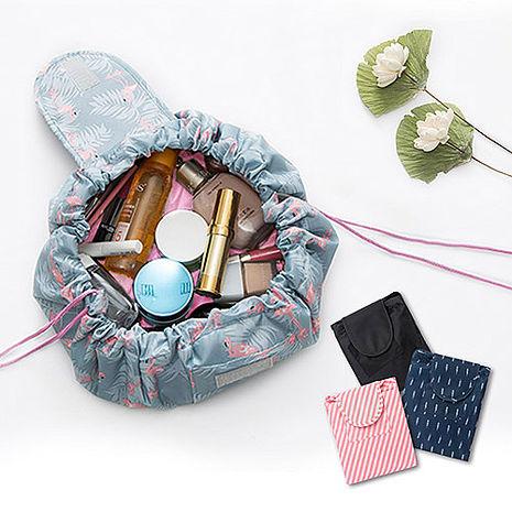 懶人收納袋 大容量 抽繩 化妝包 束口袋 收納包 洗漱包 旅遊首選 旅行用品
