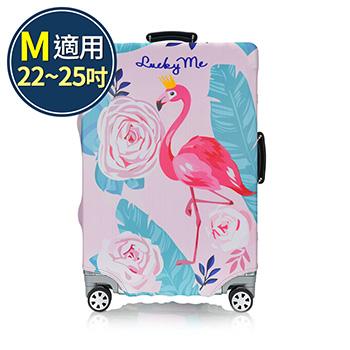 旅遊首選 旅行用品 行李箱套 旅行箱 防塵套 保護套 加厚高彈性 箱套(M號)