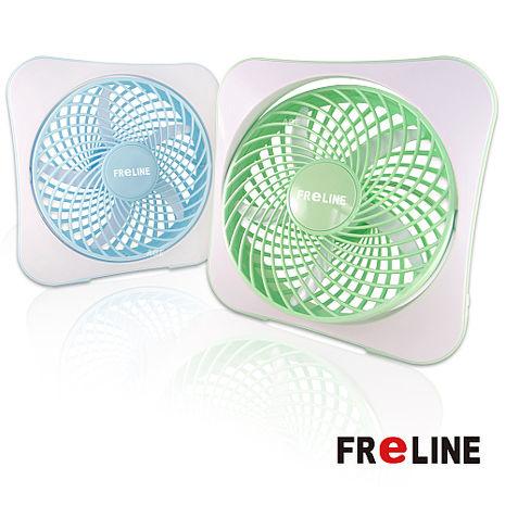 【經濟包】FReLINE 兩段式8吋DC節能電風扇 / USB / 辦公室 / 閱讀 FF-1003綠色