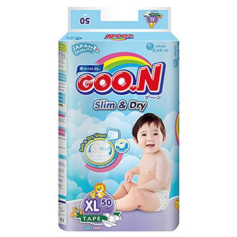 【GOO.N 日本大王】紙尿褲國際版 XL(50片X4串/箱) 贈多芬洗髮精一罐