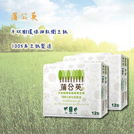 【蒲公英】環保抽取衛生紙100抽x12包x6串/箱 贈御守面紙+淨洗髮精