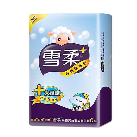 【雪柔】抽取式衛生紙90抽*6包*14串 贈舒潔溼式衛生紙兩包