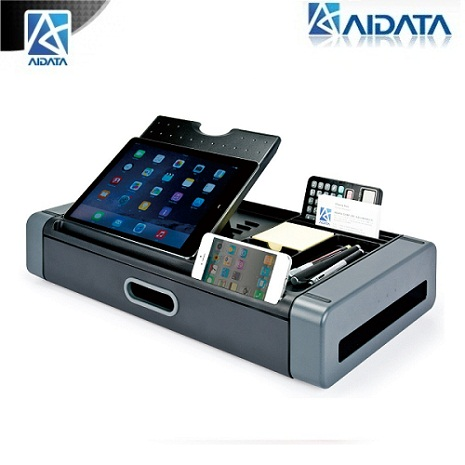 aidata 時尚專業電話/平板/手機/辦公收納座-PS1002G