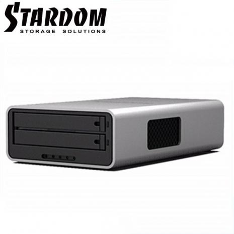 STARDOM 2.5吋USB3.0/FW800/2bay磁碟陣列設備-MR2-WB3